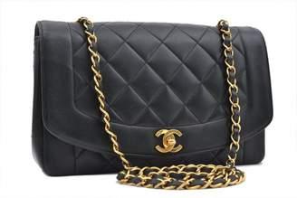 Chanel Vintage Diana Black Leather Handbag
