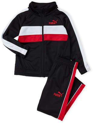 Puma Boys 4-7) Two-Piece Striped Raglan Track Suit