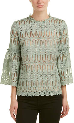 Champagne & Strawberry Bell-Sleeve Top