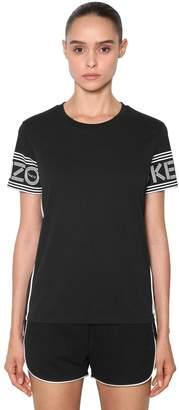 Kenzo Logo Printed Sport Cotton Jersey T-Shirt