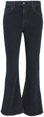 Proenza Schouler Pswl Dark Wash Cropped Flare Jeans