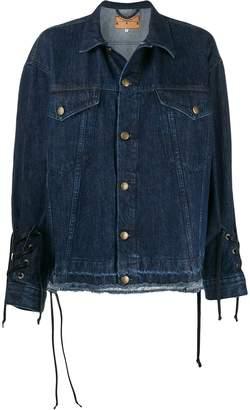 McQ drawstrings denim jacket