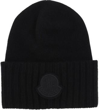 Moncler (モンクレール) - MONCLER ロゴ ウールトリコットニット帽