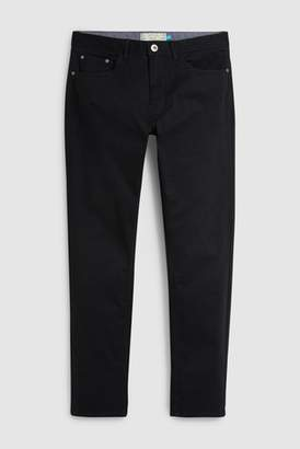 Next Mens Navy Slim Fit Stretch Five Pocket Trousers