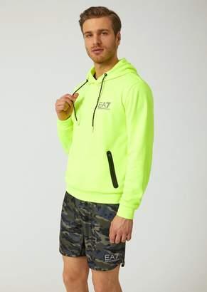 Emporio Armani Ea7 Natural Ventus 7 Technical Fabric Sweatshirt With Reflective Details