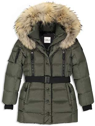 SAM. Girls' Matte Belted Puffer Jacket - Big Kid