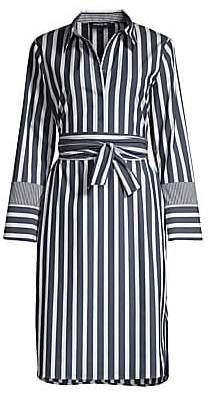 Lafayette 148 New York Women's Fabiola Striped Knee-Length Shirtdress