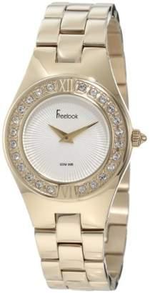 Freelook Women's HA2082G-3A All Shiny Gold With Swarovski Bezel Watch