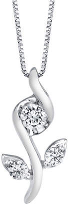 Sirena 1/0 ct. t.w.Diamond Rose Pendant in 14k White, Yellow or Rose Gold