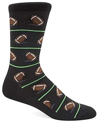 Hot Sox Men's Novelty Sporting Crew Socks