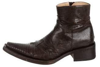 Gianni Barbato Lizard Ankle Boots