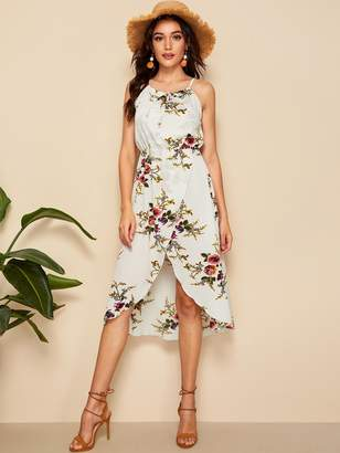 Shein Floral Print Tulip Hem Cami Dress