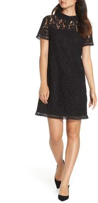 Vince Camuto High Neck Lace Shift Dress