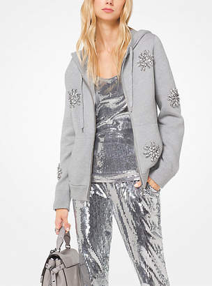 Michael Kors Embellished Cotton Hoodie