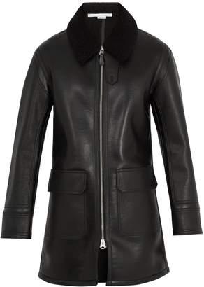 Stella McCartney Zip-through faux-shearling coat