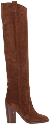 100mm Over The Knee Suede Boots $1,120 thestylecure.com