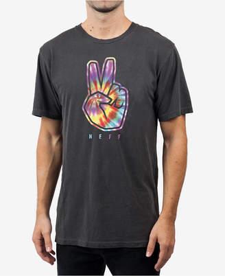 Neff Men's Peeace Out Logo Graphic T-Shirt