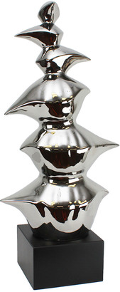 Sagebrook Home Silver Abstract Sculpture 29.50In