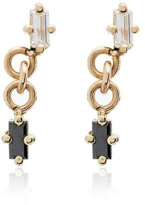 Black Diamond Lizzie Mandler Fine Jewelry 18K yellow gold and drop single earring
