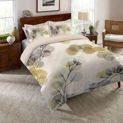 Laural Home® Smoky X-Ray of Eucalyptus Leaves King Duvet Cover