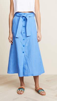 Diane von Furstenberg Button Up Skirt
