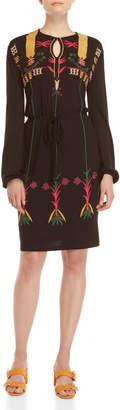 Desigual Drawstring Waist Midi Dress