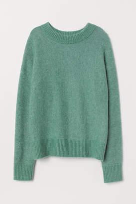 H&M Knit Mohair-blend Sweater - Green