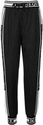 Dolce & Gabbana ribbed band track trousers
