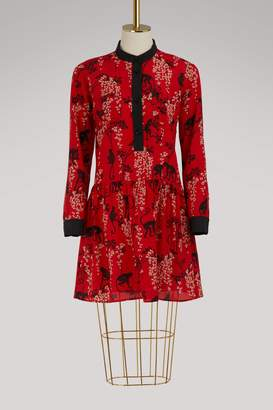 RED Valentino Monkey print long-sleeve dress