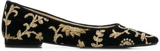 Anna Baiguera embroidered ballerina shoes