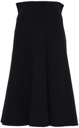 Philosophy di Lorenzo Serafini Black Viscose Midi Skirt.