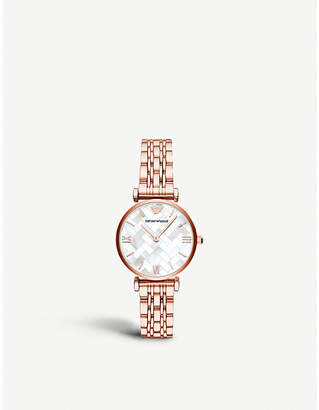 Michael Kors AR11110 rose-gold plated and Mother of Pearl watch