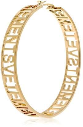 Vetements Big Single Hoop Brass Earring