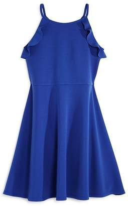 Aqua Girls' Ruffled Fit-and-Flare Dress, Big Kid - 100% Exclusive