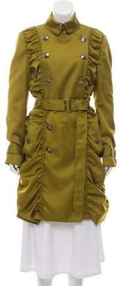 Burberry Ruffled Knee-Length Coat