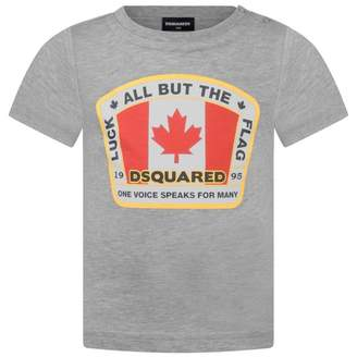 DSQUARED2 Dsquared2Baby Boys Grey Logo Top