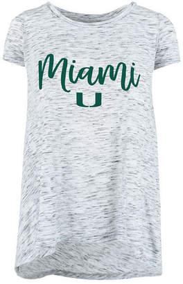 Ash Royce Apparel Inc Women's Miami Hurricanes Script Crew T-Shirt
