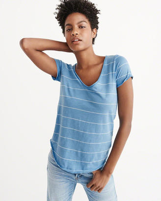 The A&F Relaxed V-Neck Tee $18 thestylecure.com