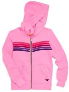 Aviator Nation Little Girl's & Girl's Stripe Hoodie