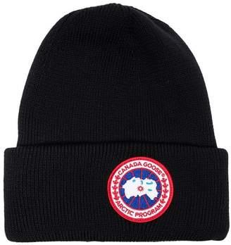 Canada Goose logo wool beanie hat