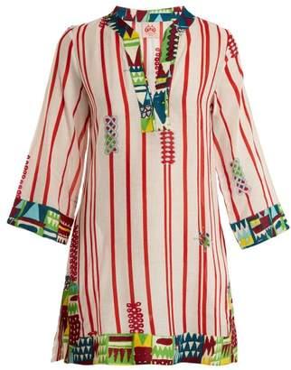 Le Sirenuse Le Sirenuse, Positano - Giada Afrika Striped Cotton Dress - Womens - Red Stripe