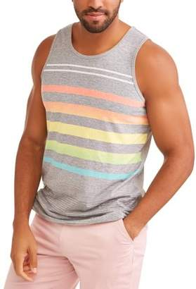 George Men's Stripe Tank Top With Pocket