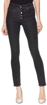 Paige Hoxton Button High Waist Ankle Peg Jeans