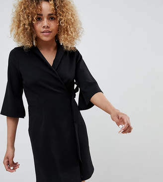 Asos DESIGN Petite mini wrap blazer dress