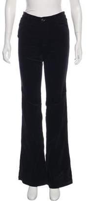 J Brand Mid-Rise Wide-Leg Pants