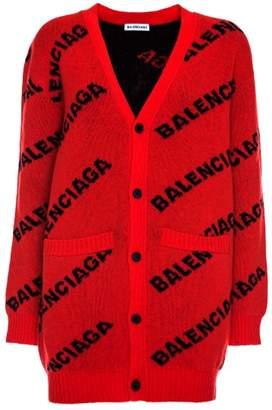 Balenciaga Wool Oversized Red Cardigan