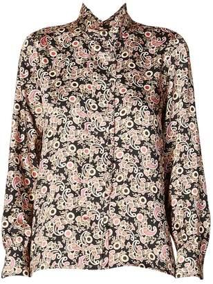 Sandro Paisley Printed High-Collar Shirt