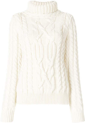 Moncler cable knit turtleneck sweater