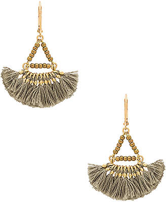 SHASHI Lilu Earring in Metallic Gold. $54 thestylecure.com