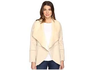 Lucky Brand Faux Shearling Waterfall Jacket Women's Coat